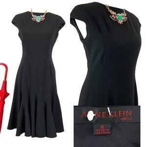 Vtg Anne Klein Black Label Cocktail Dress Sz 6